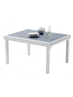 Table Modulo Verre Blanche / Gris perle 6/10 personnes